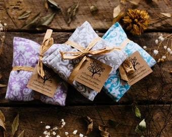 Organic Lavender and Flax Seed Eye Pillow