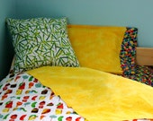 Yellow Striped Flat/Fitted Hybrid Sheet--MADE TO ORDER