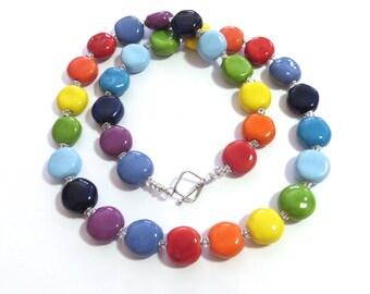 Kazuri Beaded Necklace, Statement Necklace, Kazuri Necklace, African Fair Trade Necklace, Fair Trade Jewelry