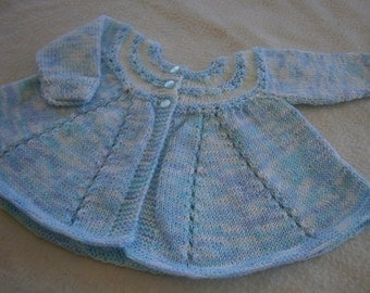 Blue and White Mingled Baby Jacket