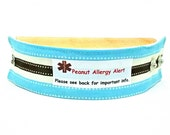 Kids Medical Alert Bracelet Safety ID Fabric Band Choose from many Labels