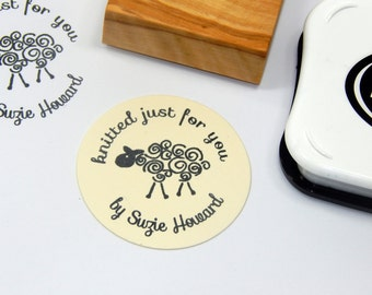 Woolly Sheep Custom Olive Wood Stamp
