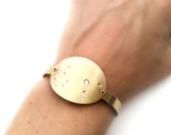 Constellation Zodiac Gold Cuff Bracelets
