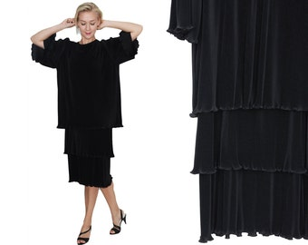 Avant Garde Layered Fortuny Pleated Dress / M / L