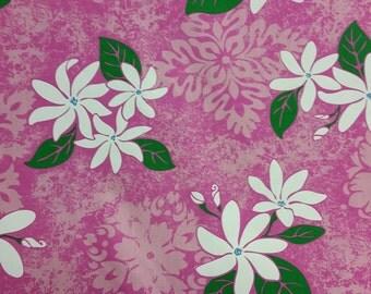 Hawaiian print fabric (Yardage available)
