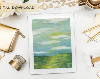 Digital Download of Original Painting - Sunny Field - High Resolution JPEG