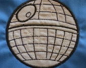 Instant Download  Star Wars Death Star and X-Wing Applique .PES, .HUS,. JEF  Machine Embroidery Design