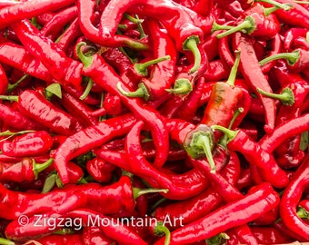 Red hot peppers | Etsy
