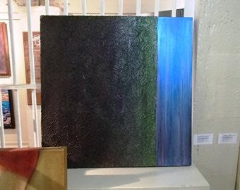 Abstract Texture Painting - Off the Grid - unusual 24x24 large square painting Minimalist Modern Art Decor Interior Design Fine Art Original