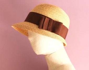 "Short Brim Straw Hat ""Marie"""