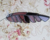 Stained Glass Feather - mauve purple #sg6