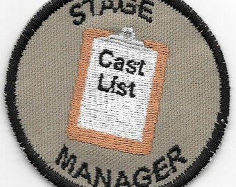 Stage Manager Merit Badge Patch