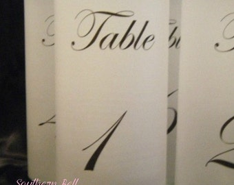 Table Number Luminaries - Set of 25