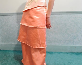 Tiered Skirt - Apricot, Peach