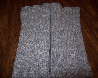 Knitted Leg Warmers Grey,Acrylic Leg warmers, Dance leg warmers, Boot Leg warmers'  Slouchy,