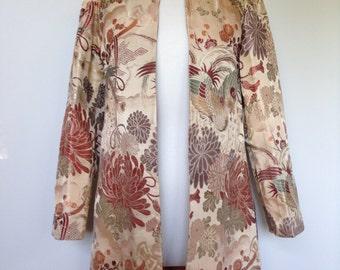 One Of A Kind Vintage - Asian Patterned - Opera Silk Tafetta Festival Coat - Designer Jacket