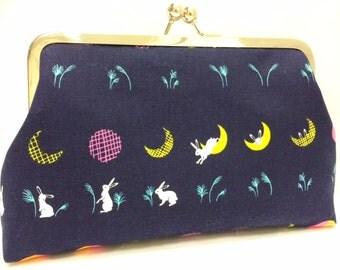 bunny hop  -   8 inch metal frame clutch purse