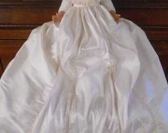 Silk Christening Gown and Slip