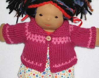 """Doll Sweater - Custom order for wool doll sweater for 13"""" to 15"""" doll"""