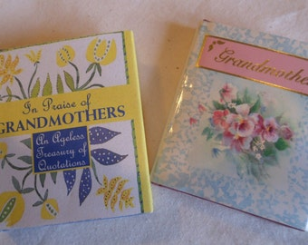 Vintage Set of Mini Books for Grandmothers Valentine's Gift  Gift Books