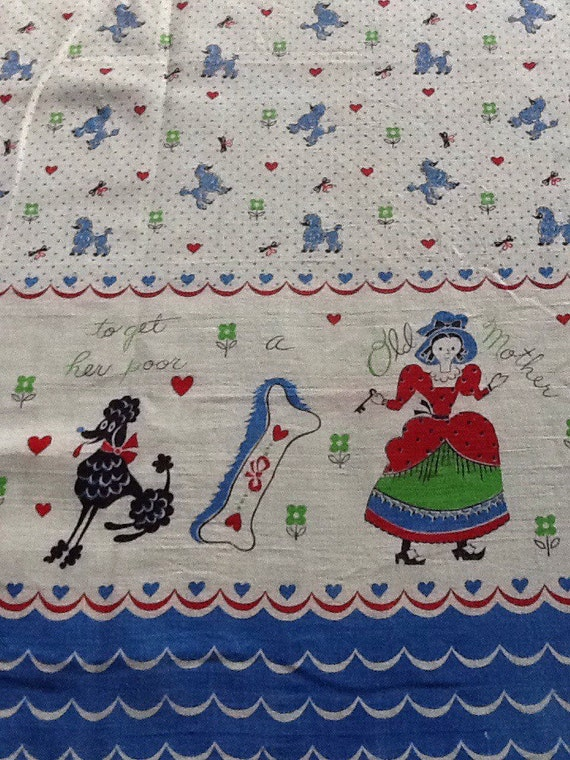 vintage poodle fabric with - photo #9