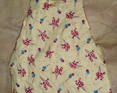 Child's Reversible Apron, Clown Toddler size Montessori-style apron