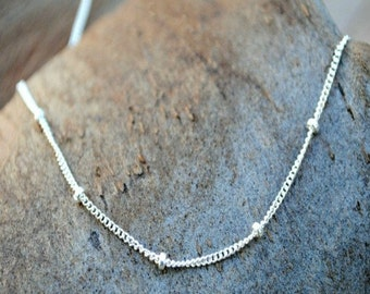 Silver Satellite Chain Necklace