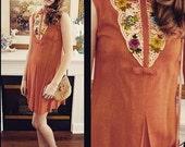 Vintage Baab Orange Casual Dress, Vintage Dress, 1960s Dress, Casual Dress, Summer Dress, Vintage Dresses, Baab of Canada