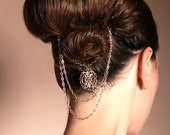 Bridal hair pins - Victorian gold hair pin jewelry - gold hair accessories - bridal hair jewelry