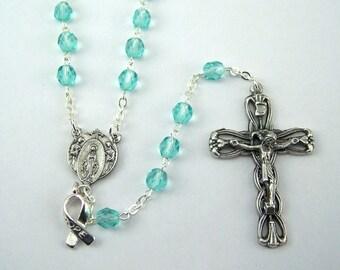 Turquoise Awareness Rosary