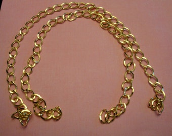 """22"""" Long Neckline gold tone metal chain link necklace Piece Jewelry Embellishment for jewelry making ST"""