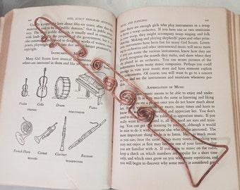 Copper clarinet bookmark hand made sculpture