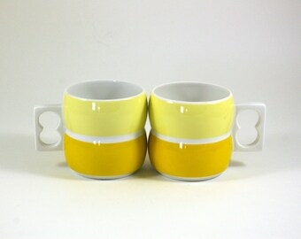 Two Block Chromatics of Germany Mugs in Yellow