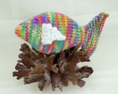 Hand-knitted Toy Fish - Rainbow Guppy