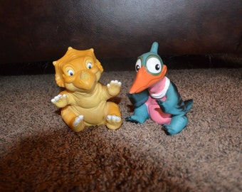 Land Before Time Dinosaurs Hand Puppets Set Of 2 Vintage 1988