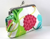 SALE Vibrant Colors with Wristlet Soft Cotton Clutch FREE SHIPPING