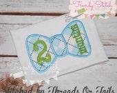 Monthly Bow Tie Applique Design Machine Embroidery Birthday Set 1 2 3 4 5 6 7 8 9 10 11 12 0 Bowtie  INSTANT DOWNLOAD
