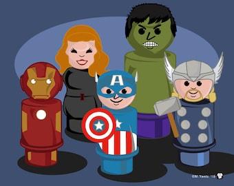 Avengers Little People Print 10x8 print