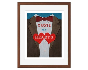 "Doctor Who print - the Eleventh Doctor - ""Cross My Hearts"""