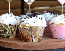 Realtree Camo Cupcake Wrappers, in Realtree, Max 4 and Realtree Pink!
