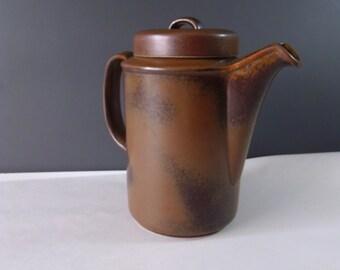 Arabia Finland Ruska Mid Century Pottery Coffee Pot