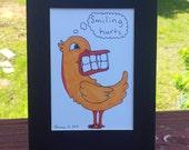 Comical Smiling Duck Original Art By Thomas Buchanan Child Youth Artist - Thomas B Art