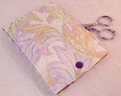 Sewing Kit, Violet Green Leaves Sewing Kit, Travel Sewing Kit, Compact Sew Kit, Mending Kit, Repair Kit,Gift Under 15