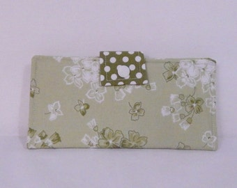 Ladies Wallet, Womans Wallet, Clutch Bifold Wallet, Floral Wallet, Gift Under 40