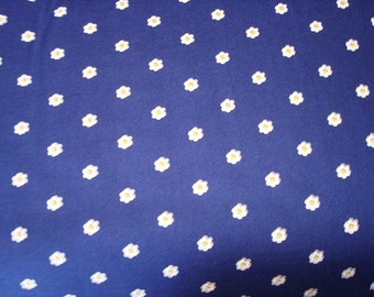 Seize The daisy in Navy color Fabric by Michael Miller - 1 yard