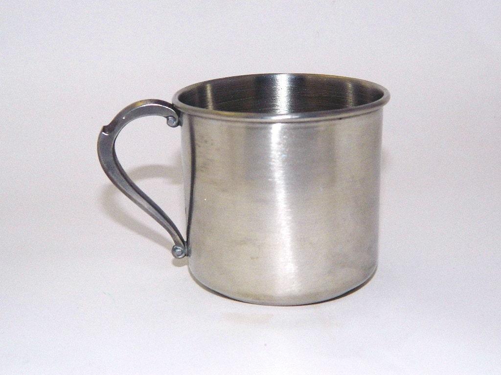 Vintage Leonard Pewter Baby Cup Baby Mug by MemeresAttic ...