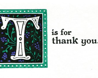 T is for Thank You
