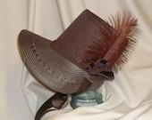 Dark Brown Stovepipe Bonnet