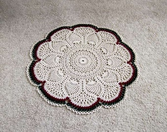 Pineapple Crochet Lace Doily, Tablecloth, Modern Home Decor, Large Table Topper, Centerpiece