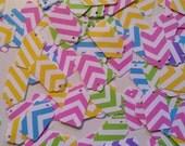 50 Mini Tag Chevron Mix Yard Sale Tag Craft Show Tag Bake Sale Tag